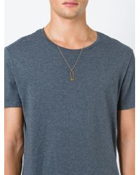 True Rocks | Metallic 'safety Pin' Necklace | Lyst
