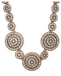 Oscar de la Renta | Metallic Gold-plated Disk Necklace | Lyst