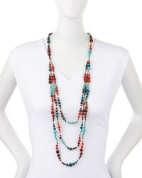 Nakamol | Blue Three-strand Long Mixed Magnesite Necklace | Lyst