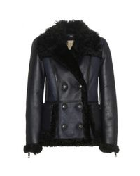 Burberry Brit | Blue Shearwell Shearling-Lined Leather Jacket | Lyst