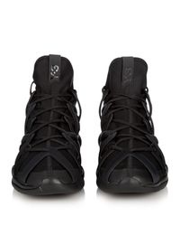 Y-3 | Men's Kyujo High Sneakers In Black for Men | Lyst