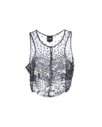 CoSTUME NATIONAL - Gray Top - Lyst