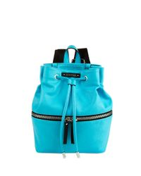 Kenneth Cole Reaction | Blue Bondi Girl Faux Leather Backpack | Lyst