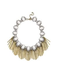 BaubleBar | Metallic 'showgirl Fringe' Collar Necklace - Antique Gold | Lyst