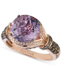 Le Vian | Pink Amethyst (3 Ct. T.w.) And Diamond (1/2 Ct. T.w.) Ring In 14k Rose Gold | Lyst