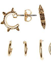 H&M - Metallic 6 Pairs Mini Creole Earrings - Lyst