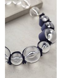 Anthropologie | Blue Ribboned Lucite Necklace | Lyst