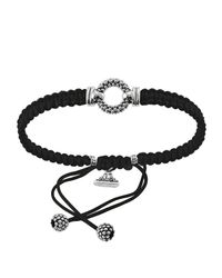 Lagos | Metallic Sterling Silver Caviar™ Braided Circle Game Cord Bracelet | Lyst