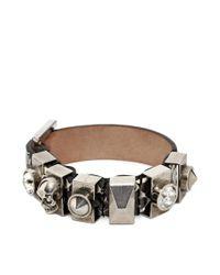 Alexander McQueen - White Metal Loop Bracelet - Lyst