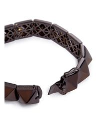 Eddie Borgo | Brown Pyramid Bracelet for Men | Lyst