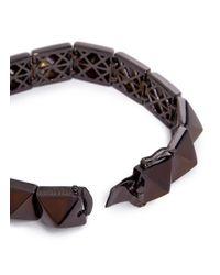 Eddie Borgo - Brown Pyramid Bracelet for Men - Lyst