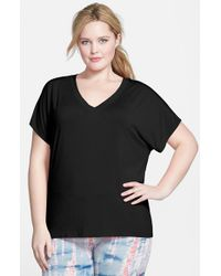 Hard Tail | Black Slouchy V-neck Tee | Lyst