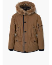 Mango | Brown Detachable Hood Feather Down Coat for Men | Lyst