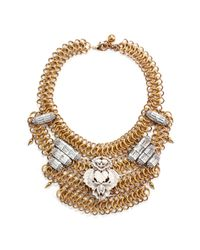 Lulu Frost - White Rita Mesh Necklace - Ivory - Lyst