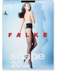 Falke | Black Shaping Top 20 Denier Tights | Lyst
