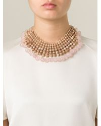 Rosantica   Pink Beaded Collar Necklace   Lyst