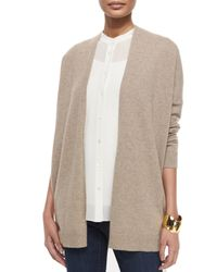 Eileen Fisher | Natural Kimono Boxy Cashmere Cardigan | Lyst