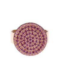 DINA KAMAL DK01 | Pink Sapphire & Yellow-Gold Id Ring | Lyst