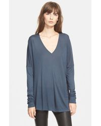 Vince - Blue 'Double Vee' Pullover - Lyst