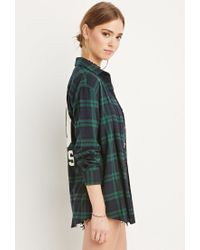 Forever 21 | Blue 00 Rules Plaid Flannel | Lyst