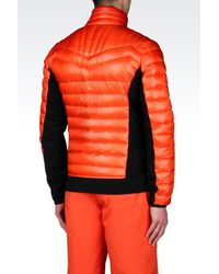 EA7 - Orange Down Coat for Men - Lyst