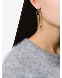 Wouters & Hendrix | Metallic 'playfully Precious' Smoked Quartz Mis-match Earrings | Lyst