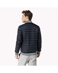 Tommy Hilfiger - Blue Lightweight Down Jacket for Men - Lyst