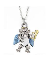 Jan Leslie - Metallic Angel Monkey Pendant / Charm Necklace - Lyst