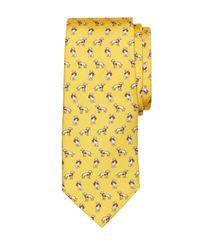 Brooks Brothers - Yellow Dog Print Tie for Men - Lyst