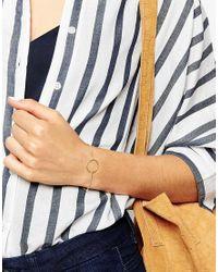 Dogeared | Metallic Gold Plated Karma Sparkle 2-strand Adjustable Bracelet | Lyst