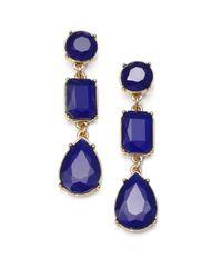 kate spade new york - Blue Linear Drop Earrings - Lyst