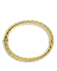David Yurman | Metallic Sculpted Cable Bracelet In Gold | Lyst