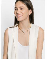 BaubleBar - Metallic Medusa Pearl Collar - Lyst