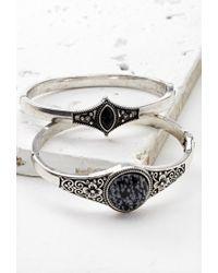 Forever 21 | Metallic Faux Stone Hinge Bracelet Set | Lyst