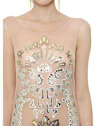Manish Arora   Pink Laser Cut Embellished Tulle Dress   Lyst