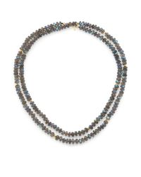 Lena Skadegard | Blue Ola Labradorite & 18k Yellow Gold Long Beaded Strand Necklace | Lyst