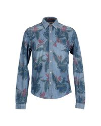 Scotch & Soda - Blue Denim Shirt for Men - Lyst