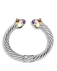 David Yurman | Purple Renaissance Bracelet With Amethyst, Rhodalite Garnet And Gold | Lyst