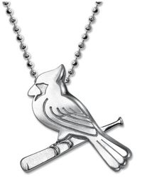 Alex Woo | Metallic Mlb Collection By Sterling Silver St. Louis Cardinals Pendant Necklace | Lyst