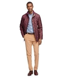 Brooks Brothers - Purple Quilted Walking Coat - Lyst