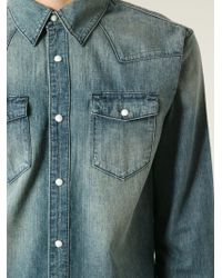 BLK DNM - Blue Stone Washed Denim Shirt for Men - Lyst