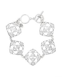 Brooks Brothers | Metallic Silver Filigree Drop Bracelet | Lyst