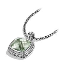 David Yurman | Green Albion Pendant With Diamonds, 17mm Gemstone | Lyst