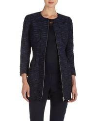 Nina Ricci | Blue Tweed Fitted Jacket | Lyst