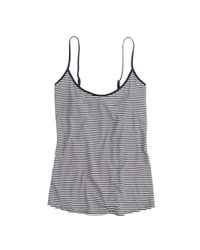 J.Crew - Blue Whisper Jersey Cami In Stripe - Lyst