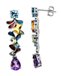 Lord & Taylor | Multicolor Multi-stone Drop In Sterling Silver | Lyst