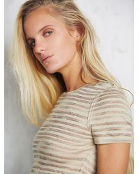 Free People - Natural Intimately Womens Boy She's Got It Baby Tee - Lyst