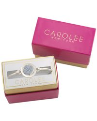 Carolee - Silver-tone Pavé Something Blue Bracelet - Lyst
