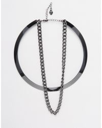 Lipsy | Metallic Torque Necklace | Lyst