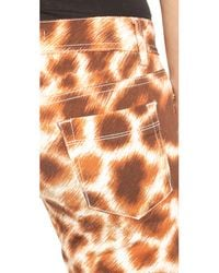 Just Cavalli - Natural Printed Skinny Jeans - Lyst